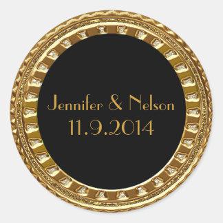 Glamorous Gold Tone Wedding Envelope Seal