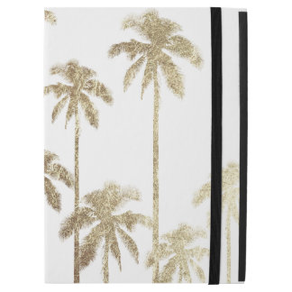 "Glamorous Gold Tropical Palm Trees on White iPad Pro 12.9"" Case"