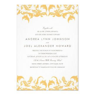 "Glamorous Gold Wedding Invitation 5"" X 7"" Invitation Card"