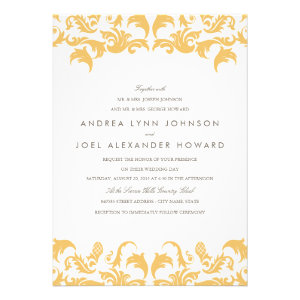Glamorous Gold Wedding Invitation Announcement