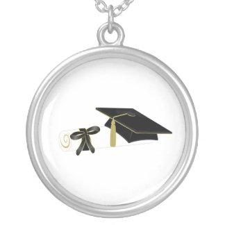glamorous Graduation Round Pendant Necklace