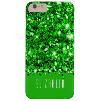 Glamorous Green Sparkly Glitter Confetti Case Barely There iPhone 6 Plus Case