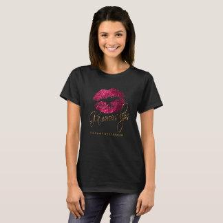 Glamorous Hot Pink Glitter Lips T-Shirt