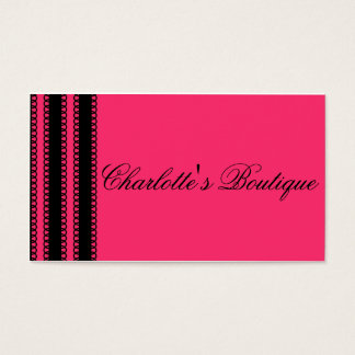 Glamorous Lace Business Card - Hot Pink Garter