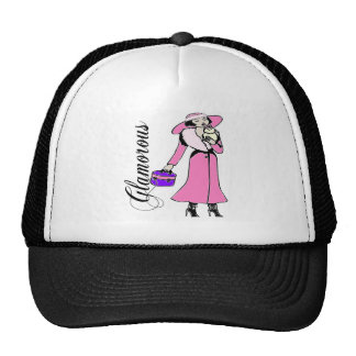 Glamorous Lady in Pink Hat
