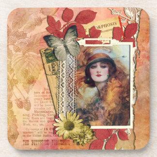 Glamorous Lady Vintage / Retro Coaster
