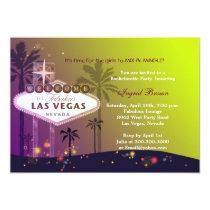 Glamorous Las Vegas Fun Bachelorette Party Card
