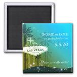 Glamorous Las Vegas Wedding Save the Date Fridge Magnets