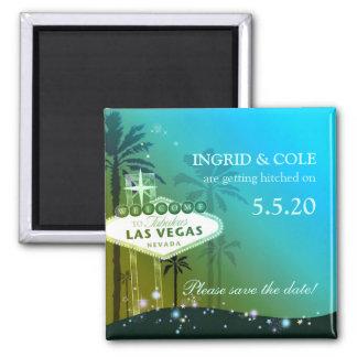 Glamorous Las Vegas Wedding Save the Date Magnet