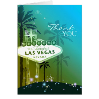 Glamorous Las Vegas Wedding Thank You Card