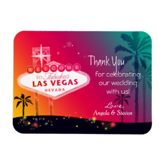 Glamorous Las Vegas Wedding Thank You Rectangular Photo Magnet