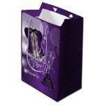 Glamorous Lingerie Bachelorette | Purple Bokeh Medium Gift Bag