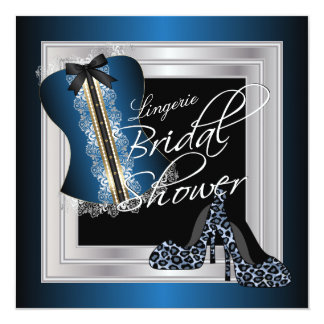 Glamorous Lingerie Bridal Shower | Blue Card