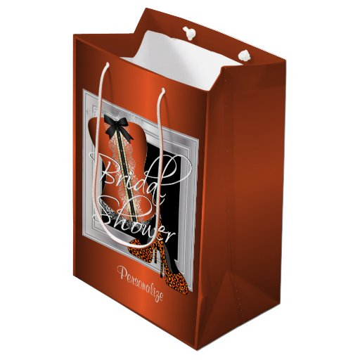 Glamorous Lingerie Bridal Shower | Orange Medium Gift Bag