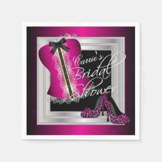 Glamorous Lingerie Bridal Shower   Pink Paper Napkin
