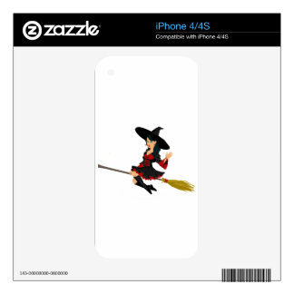 Glamorous Little Witch Decals For iPhone 4S