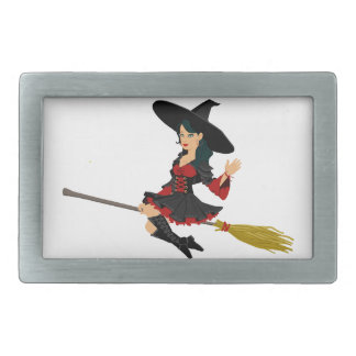 Glamorous Little Witch Rectangular Belt Buckle