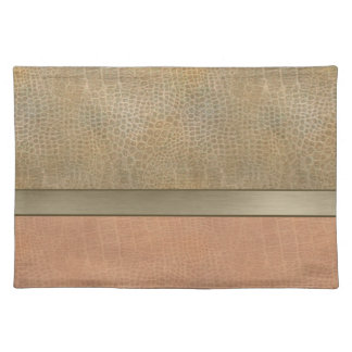 Glamorous luxury leather look placemat