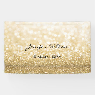 Glamorous modern chic faux gold glittery banner