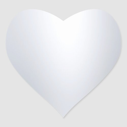 Glamorous Modern Silver Look Blank Chic Template Heart Sticker