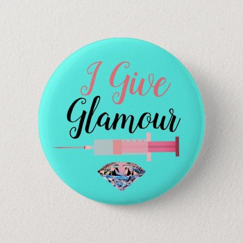 Glamorous nurse shot button