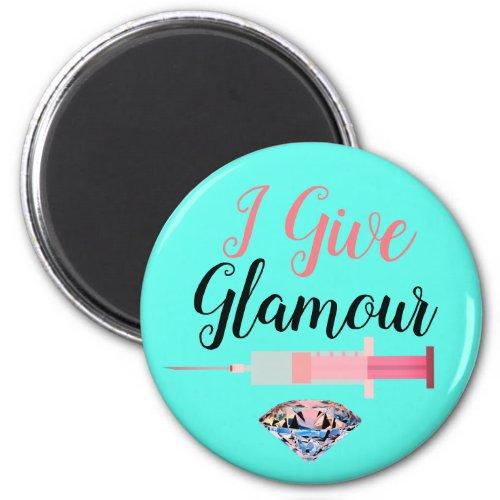Glamorous nurse shot magnet