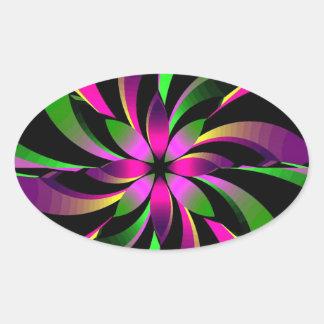 glamorous oval sticker