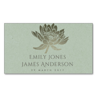 GLAMOROUS PALE BLUE SILVER FLORAL SAVE THE DATE MAGNETIC BUSINESS CARD