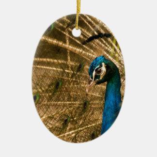 Glamorous Peacock Ceramic Ornament