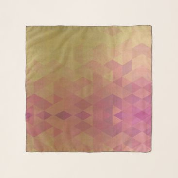 Professional Business GLAMOROUS PINK GOLD FAUX TRIANGULAR PATTERN SCARF