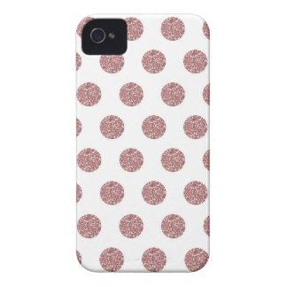 Glamorous Pink Poka Dots iPhone 4 Case