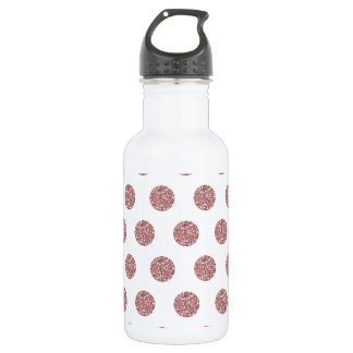 Glamorous Pink Poka Dots Water Bottle