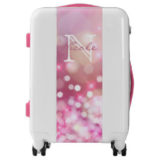 Pink Glitter Luggage - Suitcases | Zazzle
