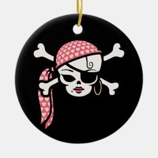 Glamorous Pirate Ceramic Ornament