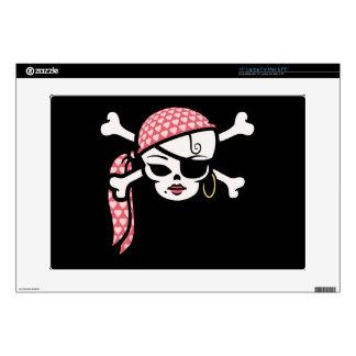 """Glamorous Pirate 15"""" Laptop Decal"""