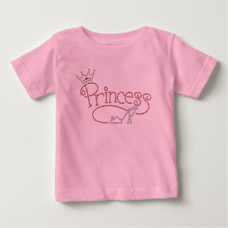 Glamorous Princess Crown & High Heel Shoe Baby T-Shirt
