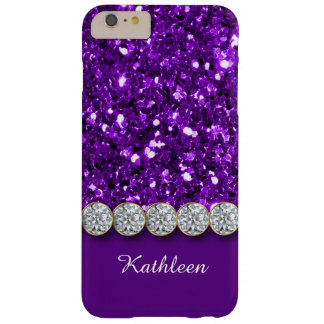 Glamorous Purple Glitter And Sparkly Diamonds Case Barely There iPhone 6 Plus Case