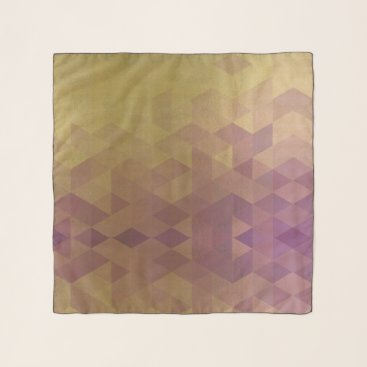 Professional Business GLAMOROUS PURPLE GOLD FAUX TRIANGULAR PATTERN SCARF
