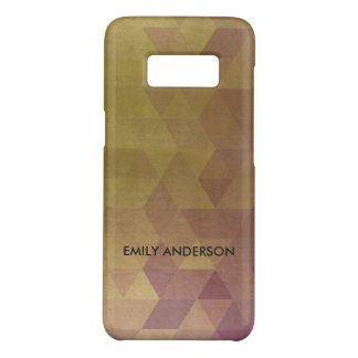 GLAMOROUS PURPLE GOLD TRIANGULAR PERSONALIZED Case-Mate SAMSUNG GALAXY S8 CASE