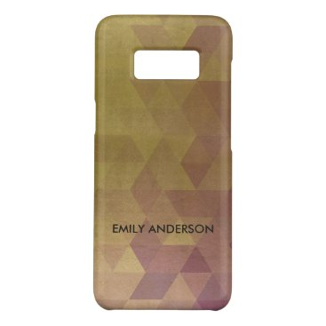 Professional Business GLAMOROUS PURPLE GOLD TRIANGULAR PERSONALIZED Case-Mate SAMSUNG GALAXY S8 CASE