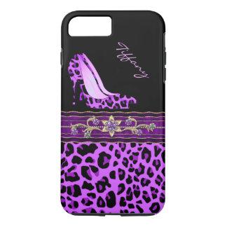Glamorous Purple Jaguar Print iPhone 7 Plus Case