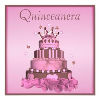 Glamorous Quinceanera Princess Cake Card
