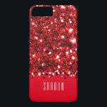 "Glamorous Red Sparkly Glitter Confetti Case<br><div class=""desc"">This design features a red faux glitter confetti background pattern complete with simulated &quot;sparkles&quot;. Customize the text on this trendy design or remove the text field if you prefer no name. The plain background, shown here as solid red, is completely customizable! We have a variety of funky, fun and affordable...</div>"
