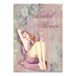 Glamorous Retro Pin Up Girl Bridal Shower 5x7 Paper Invitation Card