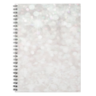 Glamorous Romantic Glittery sparkle pale pink Notebook