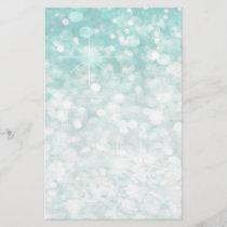 Glamorous Romantic Glittery sparkle pale teal