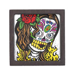 Glamorous Rose Sugar Skull Keepsake Box