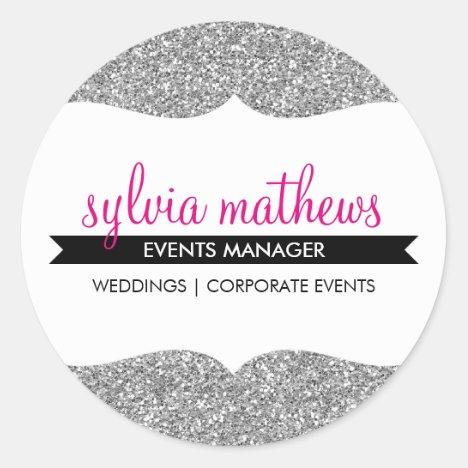 GLAMOROUS SEAL stylish glitter sparkle silver pink