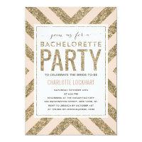 Glamorous Shimmer | Bachelorette Party Invitation
