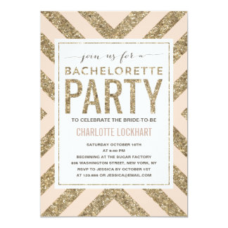 glamorous shimmer bachelorette party invitation - Cheap Bachelorette Party Invitations